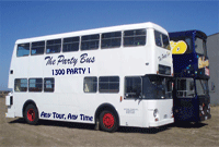 The Party Bus White Double Decker Bus